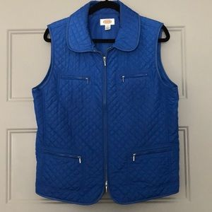 Talbots Quilted Vest Size Large EUC